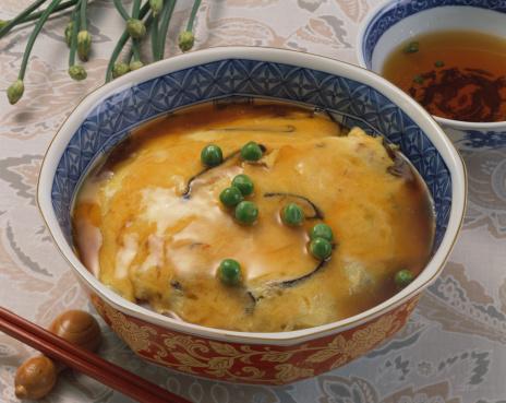 日本食「Steamed rice topped with omelet」:スマホ壁紙(6)