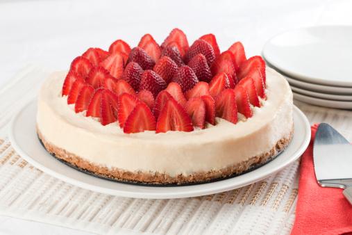 ケーキ「チーズケーキ、ストロベリー」:スマホ壁紙(12)