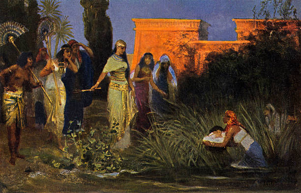 Moses is found in a cradle in the bulrushes / bullrushes by Pharoah 's daughter.:ニュース(壁紙.com)