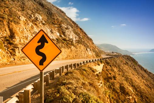 Big Sur「Scenic road on the Big Sur, Coastline and sea」:スマホ壁紙(5)