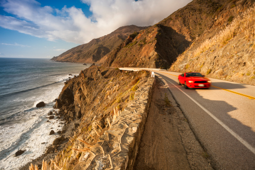 Coastline「Scenic road on the Big Sur, Coastline and sea California」:スマホ壁紙(7)