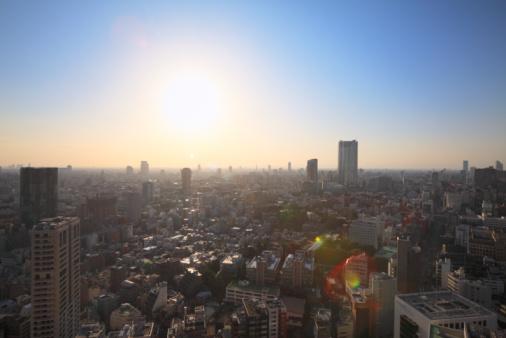 Minato Ward「Cityscape, Minato, Tokyo, Japan」:スマホ壁紙(2)