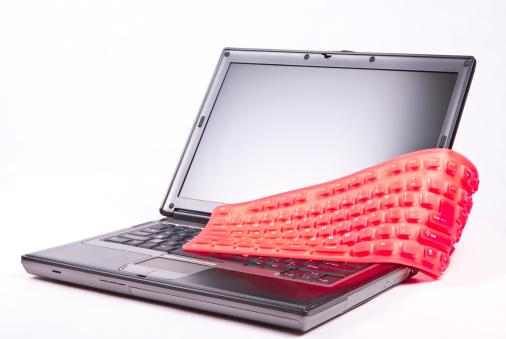 Electrical Equipment「laptop and flexible magenta keyboard」:スマホ壁紙(0)