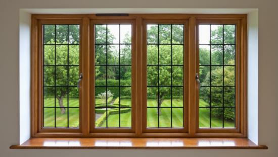 Window Frame「Garden view through leaded glass window」:スマホ壁紙(1)