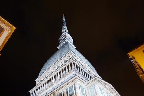 Piedmont - Italy「Mole Antonelliana illuminated at night」:スマホ壁紙(7)
