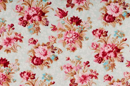 Floral Pattern「Madeline Medium Antique Floral Fabric」:スマホ壁紙(19)