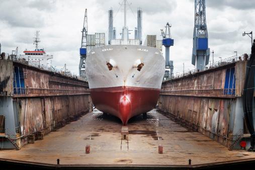 Shipyard「Wharf, ship and gantry crane, port of Rotterdam」:スマホ壁紙(5)