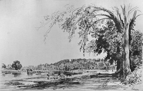 Richmond-upon-Thames「View of Richmond from the Thames 1871」:写真・画像(14)[壁紙.com]