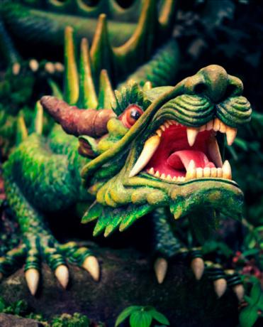 Dragon「Singapore, green dragon statue on Sentosa Island」:スマホ壁紙(11)