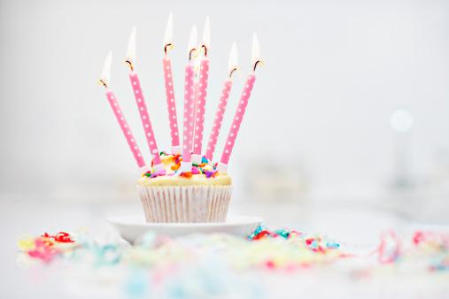 Cupcake「Birthday candles on cupcake」:スマホ壁紙(10)