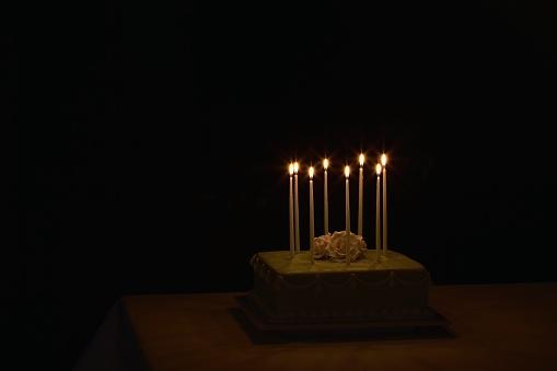 Formalwear「Birthday cake with birthday candles」:スマホ壁紙(0)