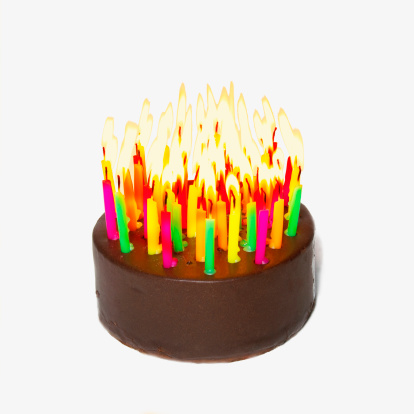 Candle「Birthday cake with many candles」:スマホ壁紙(12)