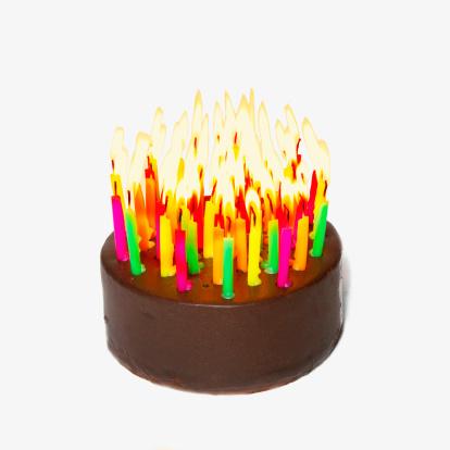 Birthday「Birthday cake with many candles」:スマホ壁紙(7)