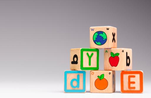 Gray Background「children's alphabet building blocks bricks」:スマホ壁紙(11)