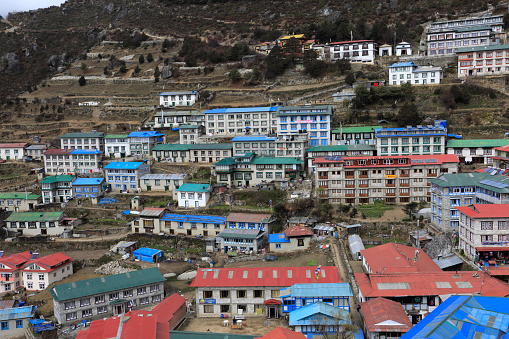 Khumbu「Image of Namche Bazar village」:スマホ壁紙(17)