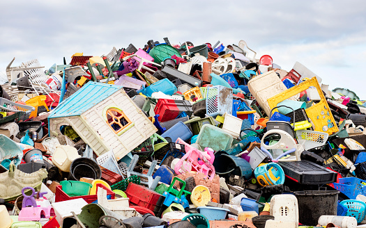 Composition「a mountain of plastic goods at a recycling plant」:スマホ壁紙(6)