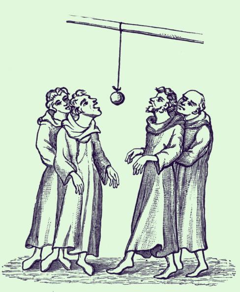 Circa 14th Century「Apple bobbing ('Bob-Apple'), early 14th century」:写真・画像(6)[壁紙.com]
