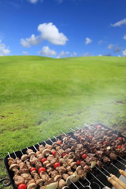 barbecue in green landscape:スマホ壁紙(壁紙.com)