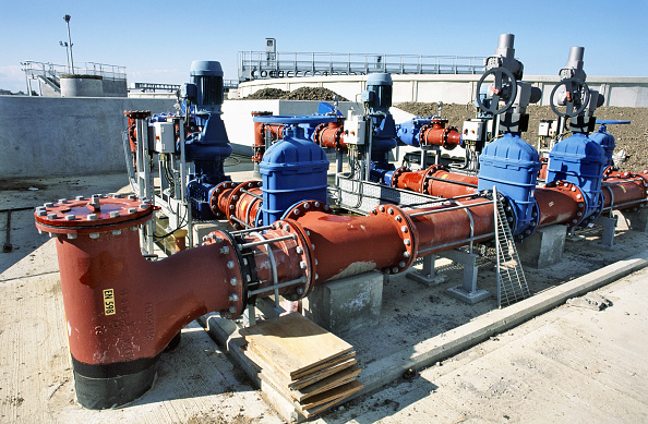 Clear Sky「Valves along the sluge treatment channels, Margate wastewater scheme」:写真・画像(9)[壁紙.com]