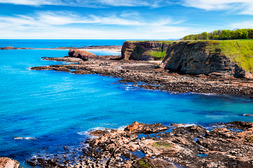 East Lothian「Sea Cliffs by Oxroad Bay, North Berwick, East Lothian, Scotland, UK」:スマホ壁紙(0)
