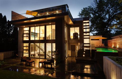 Carpentry「Modern House exterior」:スマホ壁紙(11)