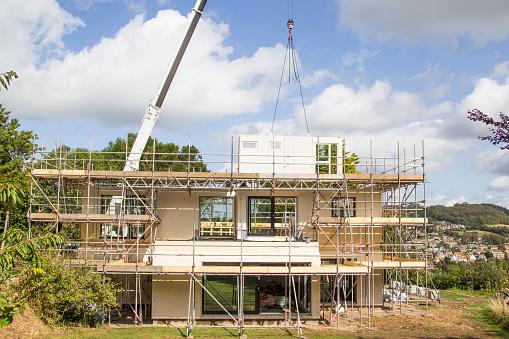 Housing Project「Modern house under construction」:スマホ壁紙(4)