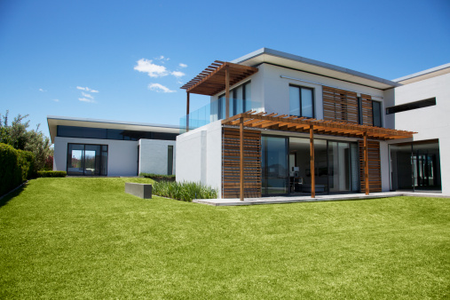 Building Exterior「Modern house and yard」:スマホ壁紙(8)