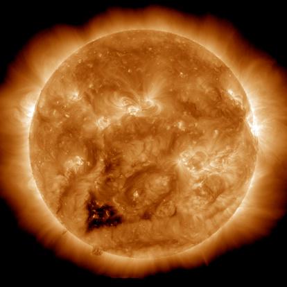 Corona - Sun「Coronal holes on the Sun.」:スマホ壁紙(10)