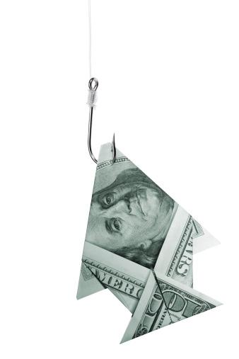 American One Hundred Dollar Bill「Fishing big money concept」:スマホ壁紙(0)