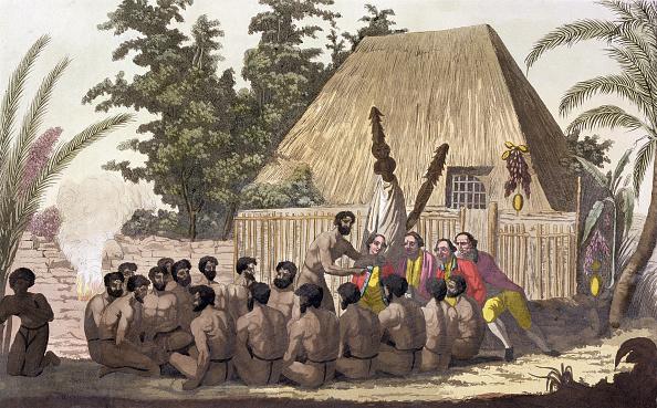 Hawaii Islands「Captain Cook Observes An Offering Sandwich Islands' 1778-1779 (19th Century)」:写真・画像(16)[壁紙.com]