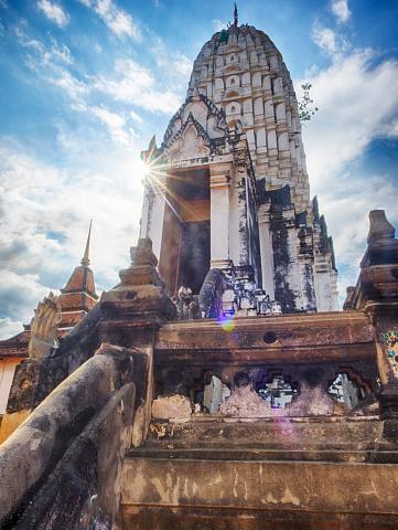 画像加工フィルタ「Wat Phutthaisawan Built in 1353 by U-Thong, Ayutthaya, Thailand」:スマホ壁紙(2)