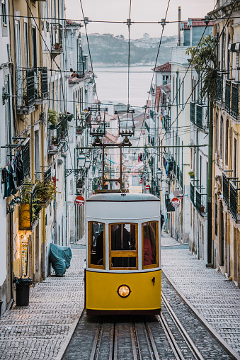 Cable Car「Elevador da Bica, Lisbon」:スマホ壁紙(1)