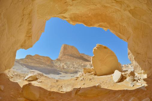 Arid Climate「Rock Cave in the White Desert」:スマホ壁紙(5)