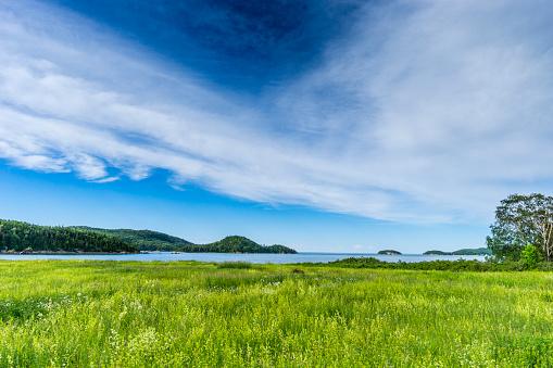 cloud「美しい自然とバーズ ケベック Bas Saint-Laurent (低セントローレンス) 地域のネットワークの一部であるパルク国立デュ ビックカメラでセント ・ ローレンス川のビュー。」:スマホ壁紙(19)