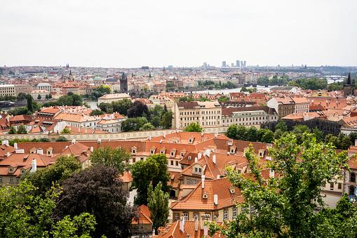 Charles Bridge「Czechia, Prague, view to the city from Hradcany」:スマホ壁紙(1)