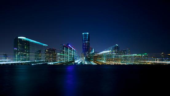 Miami Beach「マイアミ夜の抽象的」:スマホ壁紙(12)