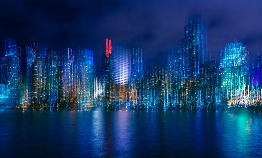 Miami Beach「マイアミ夜の抽象的」:スマホ壁紙(19)
