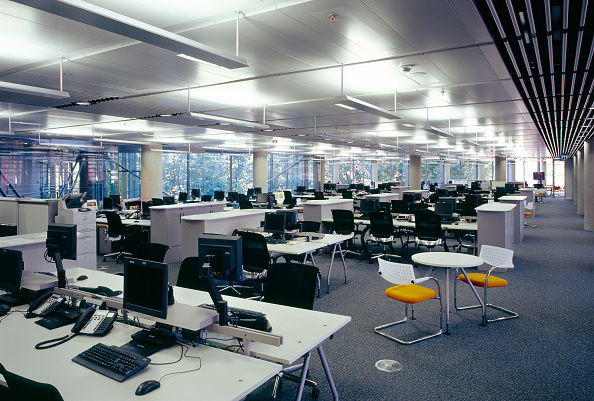 Empty「Office in Waterside Building (Richard Rogers Partnership), Paddington Basin, London, UK」:写真・画像(4)[壁紙.com]