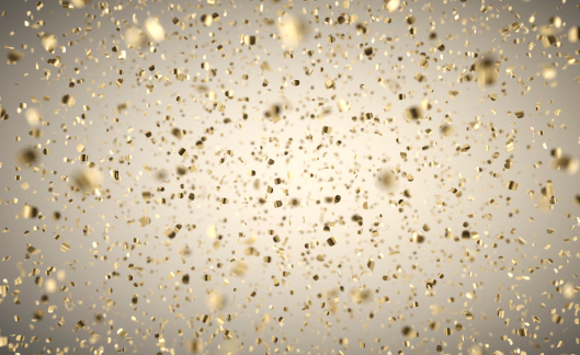 Gold Colored「Gold Confetti Rain - Depth Of Field」:スマホ壁紙(2)
