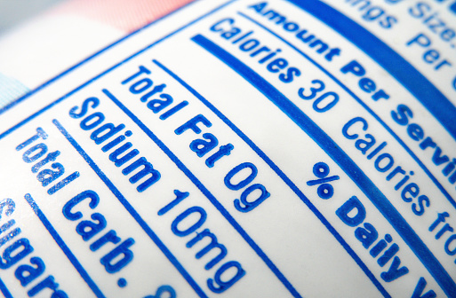 Low Carb Diet「nutrition label; calories, fat and sodium content」:スマホ壁紙(14)