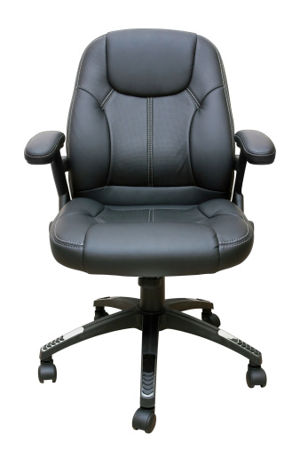 Adjustable「Executive leather chair (Clipping Path!) isolated on white background」:スマホ壁紙(11)