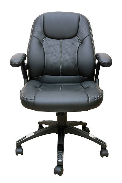 Executive leather chair (Clipping Path!) isolated on white background:スマホ壁紙(壁紙.com)