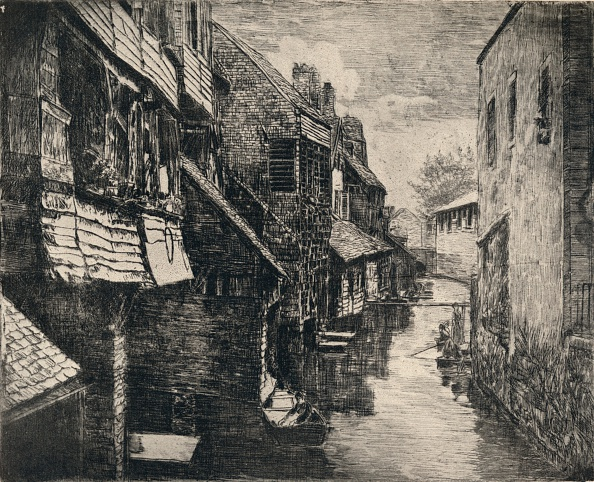 Water's Edge「'The River Bievre at Gentilly', 1915」:写真・画像(15)[壁紙.com]