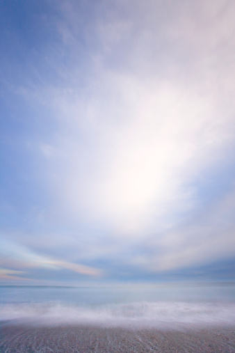 Westland - South Island New Zealand「Surfing breaking on beach, dawn, (long exposure, soft)」:スマホ壁紙(12)