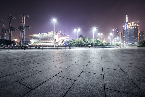 Town Square「Empty Square of Guangzhou for car advertisement background」:スマホ壁紙(11)