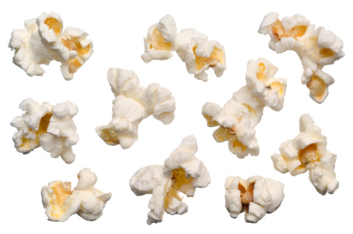 Fast Food「Isolated Popcorn on white」:スマホ壁紙(4)