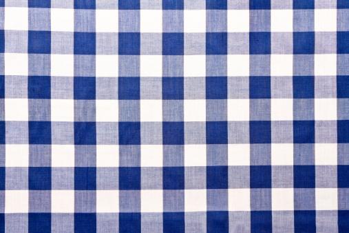 タータンチェック「ブルーのギンガムチェックテーブルクロス」:スマホ壁紙(9)