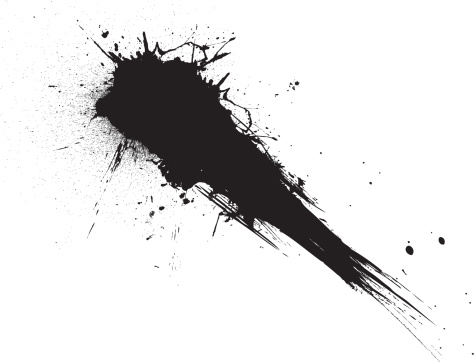Vector「shooting ink/paint splat isolated from the white background ideal to place text over」:スマホ壁紙(4)