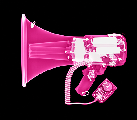 Hot Pink「X-ray of a megaphone in pink」:スマホ壁紙(1)