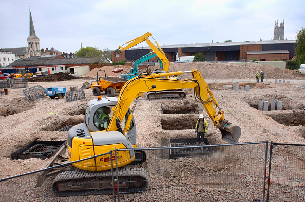 Outdoors「Groundworks at Kingsholm in preparation for the construction of Gloucester Rugby's New South Stand, UK」:写真・画像(6)[壁紙.com]